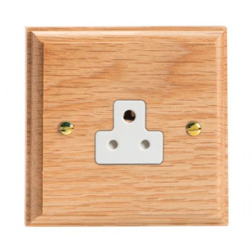 Varilight XKRPOW Kilnwood Oak 1 Gang 2A Round Pin Plug Socket